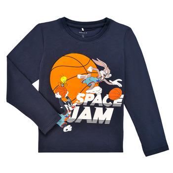 Textiel Jongens T-shirts met lange mouwen Name it NMMSPACEJAM ARNE LS TOP Marine