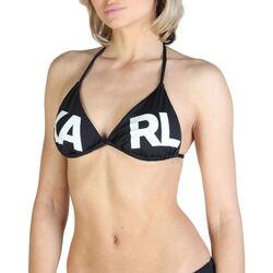 Textiel Dames Bikinibroekjes- en tops Karl Lagerfeld - kl21wtp05 Zwart