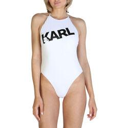 Textiel Dames Badpak Karl Lagerfeld - kl21wop03 Wit