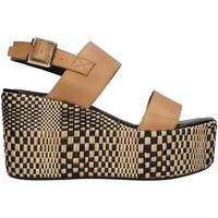 Schoenen Dames Sandalen / Open schoenen Paola Ferri D7421 BEIGE