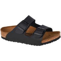 Schoenen Kinderen Leren slippers Birkenstock Arizona BF Kids Noir