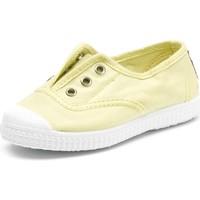 Schoenen Kinderen Tennis Cienta Chaussures en toiles bébé  Tintado jaune pastel