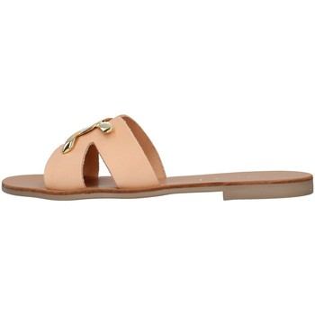 Schoenen Dames Leren slippers S.piero E1-039 BEIGE