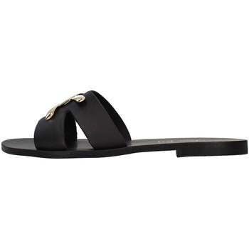 Schoenen Dames Leren slippers S.piero E1-039 BLACK