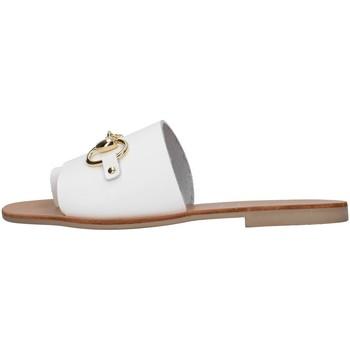 Schoenen Dames Leren slippers S.piero E1-056 WHITE