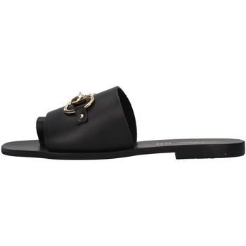 Schoenen Dames Leren slippers S.piero E1-056 BLACK