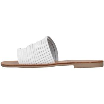Schoenen Dames Leren slippers S.piero E1-018 WHITE