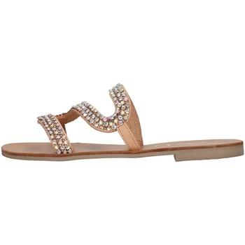 Schoenen Dames Leren slippers S.piero E1-032 BEIGE