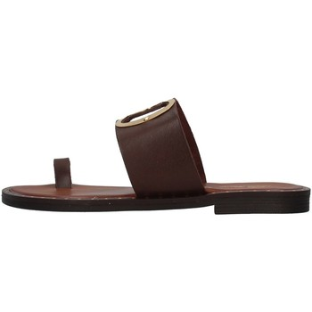 Schoenen Dames Leren slippers S.piero E2-007 BROWN