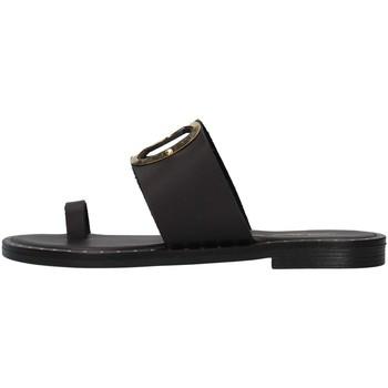 Schoenen Dames Leren slippers S.piero E2-007 BLACK