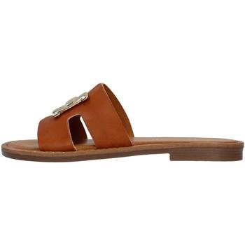 Schoenen Dames Leren slippers S.piero E2-006 BROWN