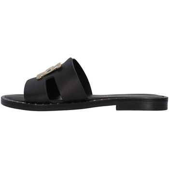 Schoenen Dames Leren slippers S.piero E2-006 BLACK