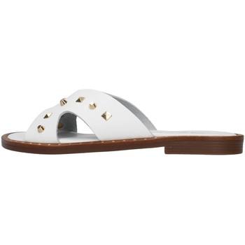 Schoenen Dames Leren slippers S.piero E2-011 WHITE
