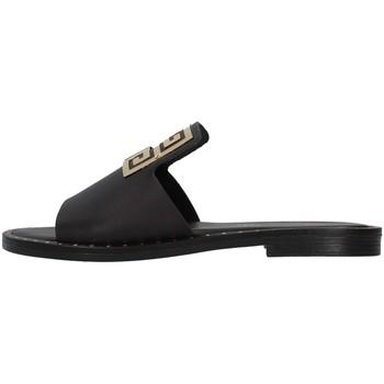 Schoenen Dames Leren slippers S.piero E2-021 BLACK