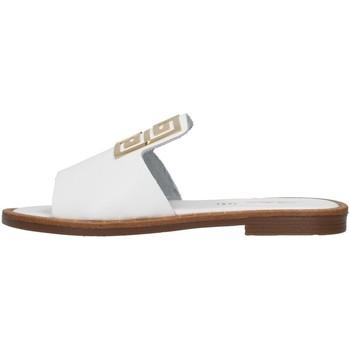 Schoenen Dames Leren slippers S.piero E2-021 WHITE