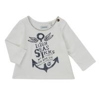 Textiel Meisjes T-shirts met lange mouwen Ikks CHOCOLAT Wit
