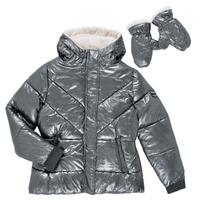Textiel Meisjes Dons gevoerde jassen Ikks OLIVE Zilver