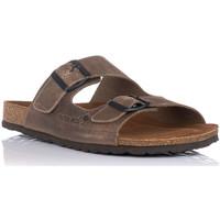 Schoenen Heren Leren slippers Interbios 9560 Beige