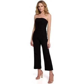 Textiel Dames Jumpsuites / Tuinbroeken Makover K045 Bandeau top jumpsuit - zwart