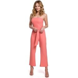 Textiel Dames Jumpsuites / Tuinbroeken Makover K045 Bandeau top jumpsuit - oranje