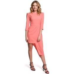 Textiel Dames Korte jurken Makover K047 Asymmetrische schede jurk - oranje