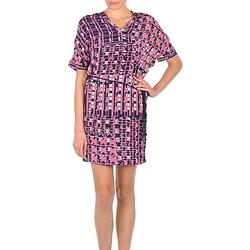 Textiel Dames Korte jurken Stella Forest YRO059 Marine / Roze
