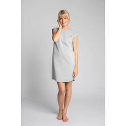 Textiel Dames Korte jurken Lalupa LA033 Geribd katoenen Loungewear Jurk - lichtgrijs