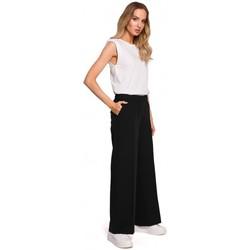 Textiel Dames Losse broeken / Harembroeken Moe M570 Broek met gekreukte pijpen - zwart