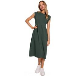 Textiel Dames Lange jurken Moe M581 Hoge taille mouwloze jurk - militair groen