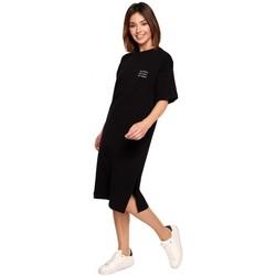 Textiel Dames Korte jurken Be B194 Relaxed Fit T-shirt Jurk - zwart