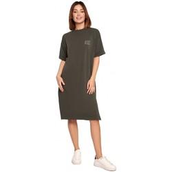 Textiel Dames Korte jurken Be B194 Relaxed Fit T-shirt Jurk - militair groen