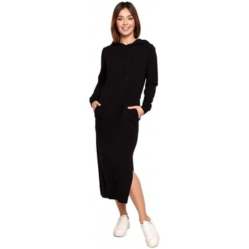Textiel Dames Lange jurken Be B197 Midi jurk met kap - crème