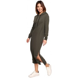 Textiel Dames Lange jurken Be B197 Midi jurk met kap - Mokka