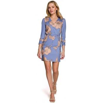 Textiel Dames Korte jurken Makover K096 Mini jurkje met wikkel top - model 2