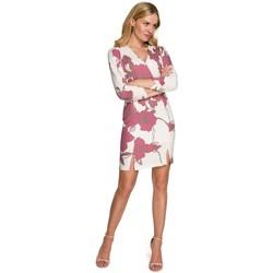Textiel Dames Korte jurken Makover K096 Mini jurkje met overslag topje - model 3