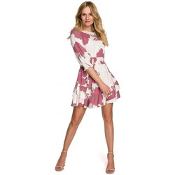 Textiel Dames Korte jurken Makover K097 Schaatsenjurk met tailleband - model 2
