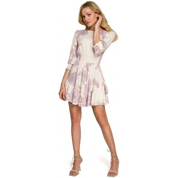 Textiel Dames Korte jurken Makover K097 Schaatsenjurk met tailleband - model 3
