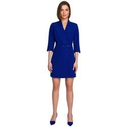 Textiel Dames Korte jurken Style S255 Broek met omslag - zwart