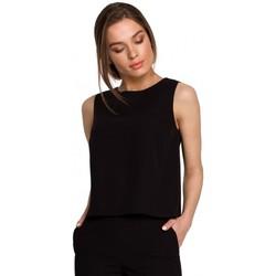 Textiel Dames Tops / Blousjes Style S257 Mouwloze blouse - groen