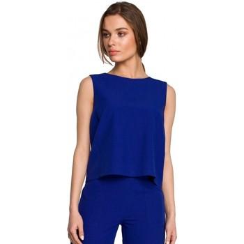 Textiel Dames Tops / Blousjes Style S258 Mouwloze blazerjurk - beige