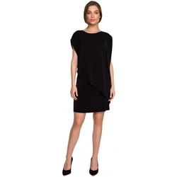 Textiel Dames Korte jurken Style S262 Gelaagde jurk - zwart