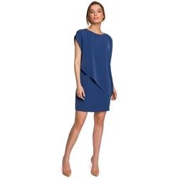 Textiel Dames Korte jurken Style S262 Gelaagde jurk - blauw