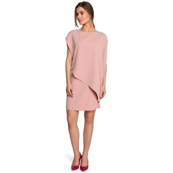 Textiel Dames Korte jurken Style S262 Gelaagde jurk - poeder