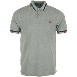 Textiel Heren Polo's korte mouwen Fred Perry Abstract Tipped Polo Shirt Grijs