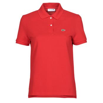 Textiel Dames Polo's korte mouwen Lacoste POLO REGULAR FIT PF7839 Rood