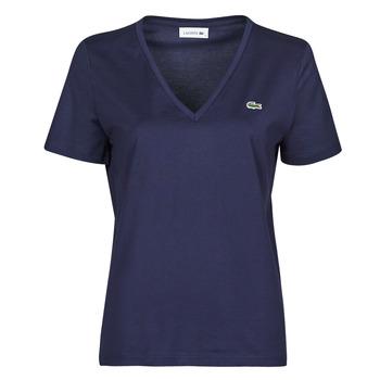Textiel Dames T-shirts korte mouwen Lacoste LOUIS Marine