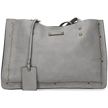 Tassen Dames Handtassen lang hengsel Luna Collection 53898 grijs