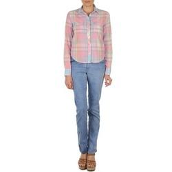 Textiel Dames Straight jeans Gant DANA SPRAY COLORED DENIM PANTS Blauw