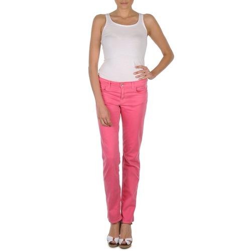 Textiel Dames 5 zakken broeken Gant DANA SPRAY COLORED DENIM PANTS Roze