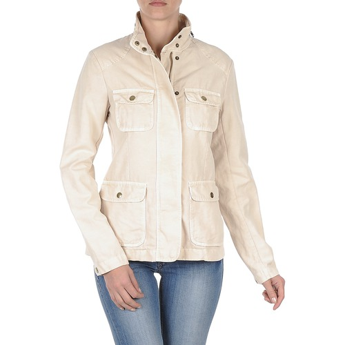 Textiel Dames Wind jackets Gant COTTON LINEN 4PKT JACKET Creme